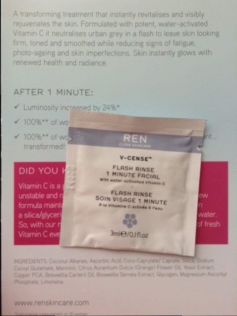 V-Cense Flash Rinse REN amostra
